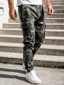 Zelené pánske kapsáčové jogger nohavice Bolf 702