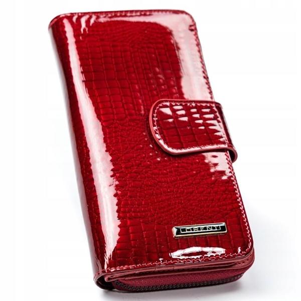 Červená dámska kožená peňaženka 2772
