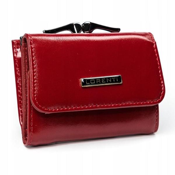 Červená dámska kožená peňaženka 2908