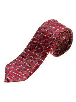 Červená pánska elegantná kravata BOLF K103