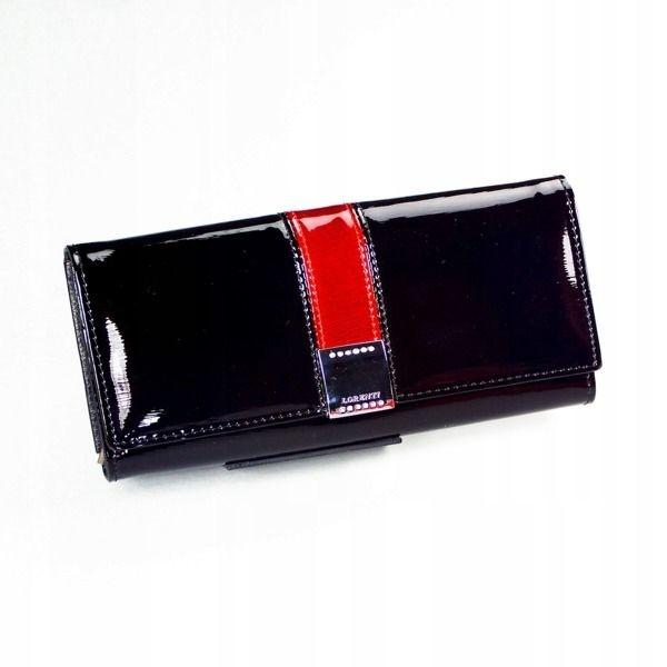 Čierna dámska kožená peňaženka 1161