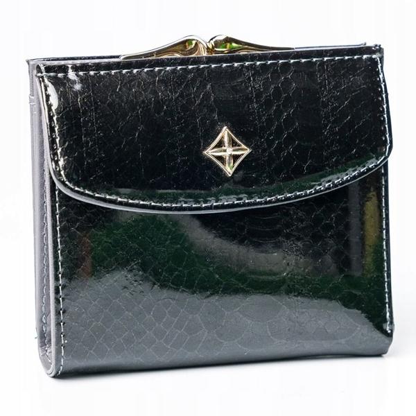 Čierna dámska koženková peňaženka 2866