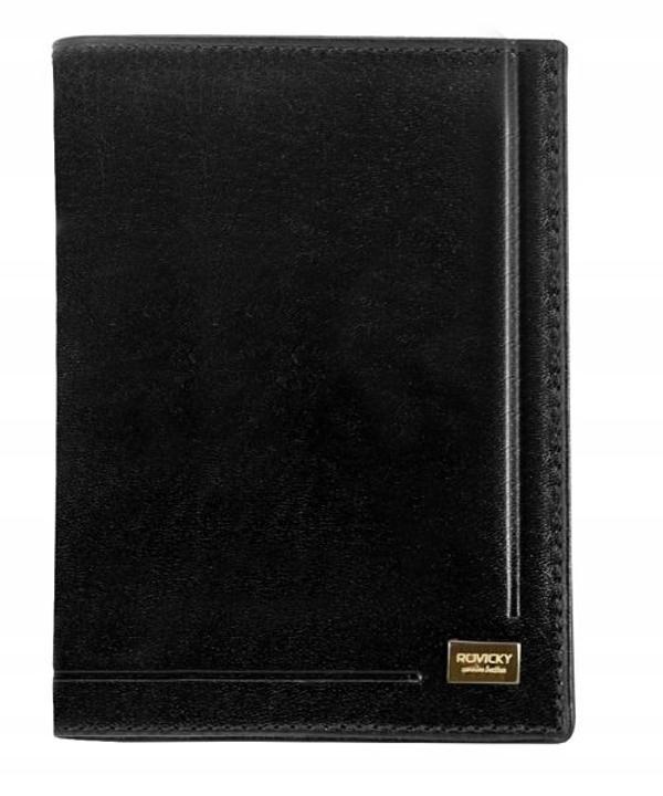 Čierna pánska kožená  peňaženka 144