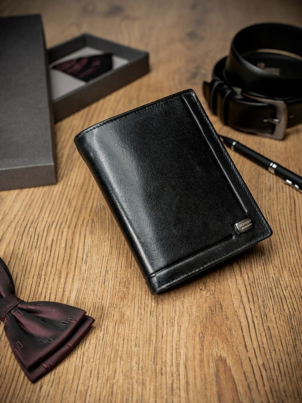 Čierna pánska kožená  peňaženka 170
