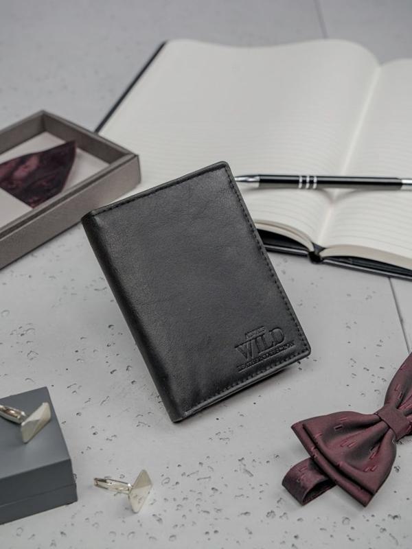 Čierna pánska kožená peňaženka 3150