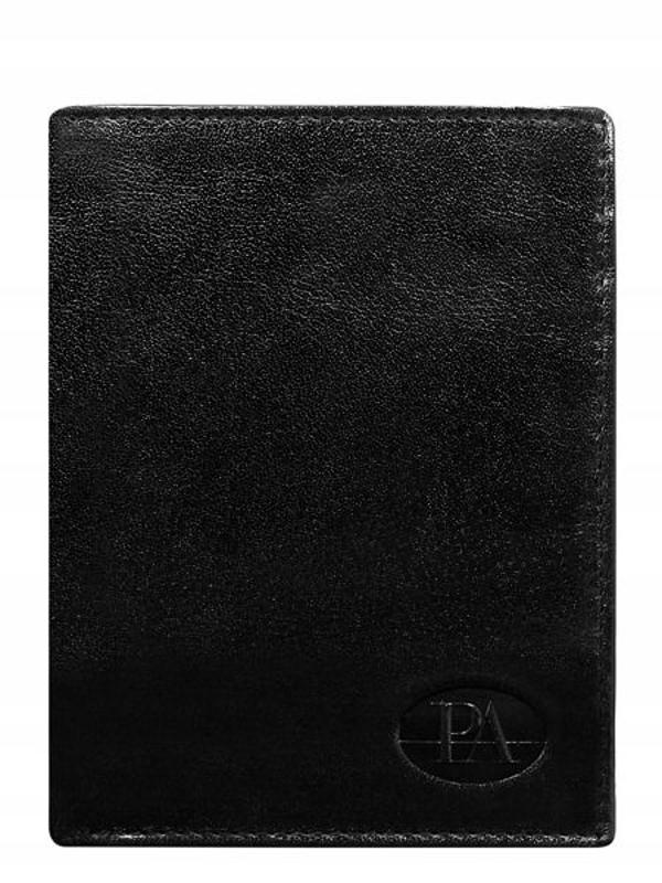 Čierna pánska kožená peňaženka 379