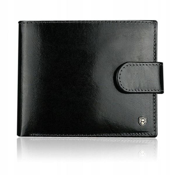 Čierna pánska kožená peňaženka 906