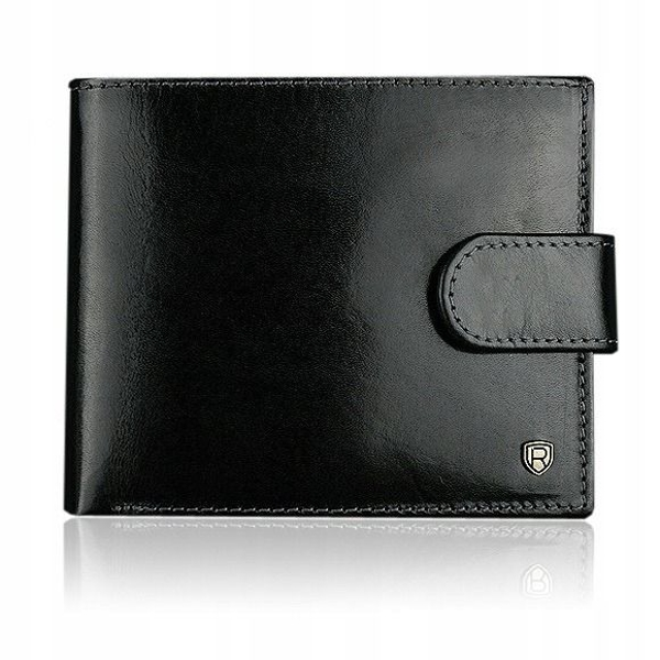Čierna pánska kožená peňaženka 907