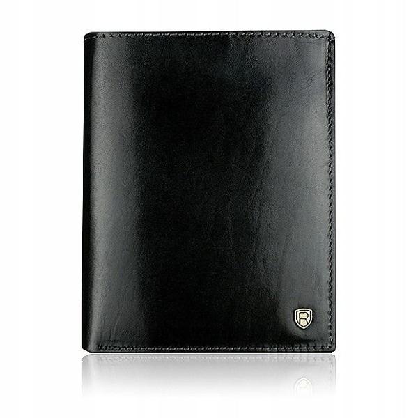 Čierna pánska kožená peňaženka 911