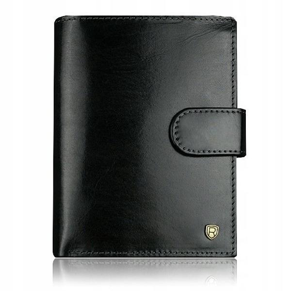 Čierna pánska kožená peňaženka 914