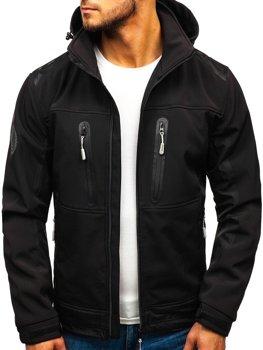 Čierna pánska softshellová bunda BOLF A6603