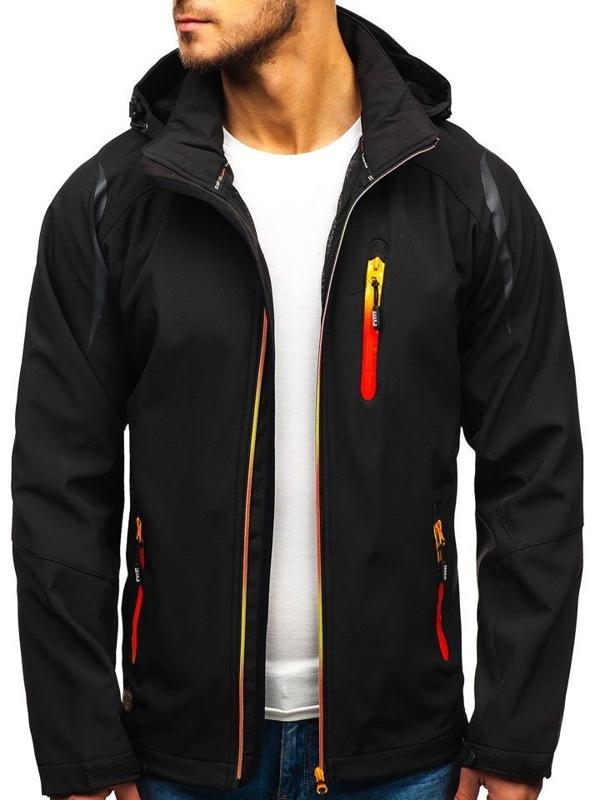 Čierna pánska softshellová bunda BOLF ZS202