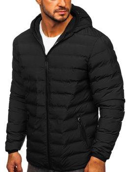 Čierna pánska športová zimná bunda Bolf SM67