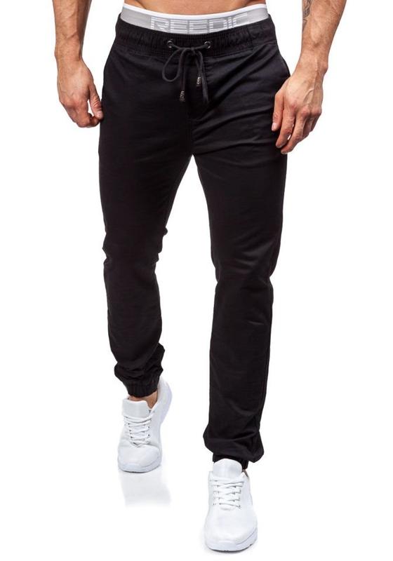 Čierne pánske jogger nohavice BOLF 8765
