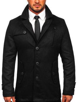 Čierny pánsky zimný kabát BOLF 3127