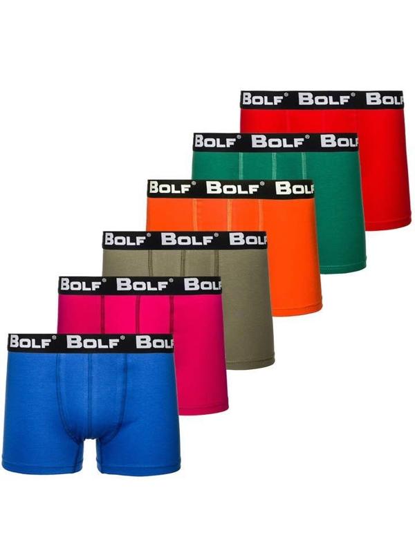 Farebné-2 pánske boxerky BOLF G515 6 KS