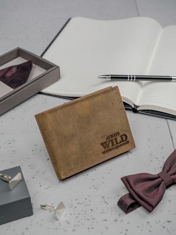 Hnedá pánska kožená peňaženka 3139