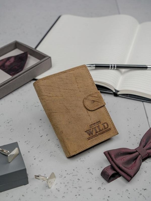 Hnedá pánska kožená peňaženka 3140