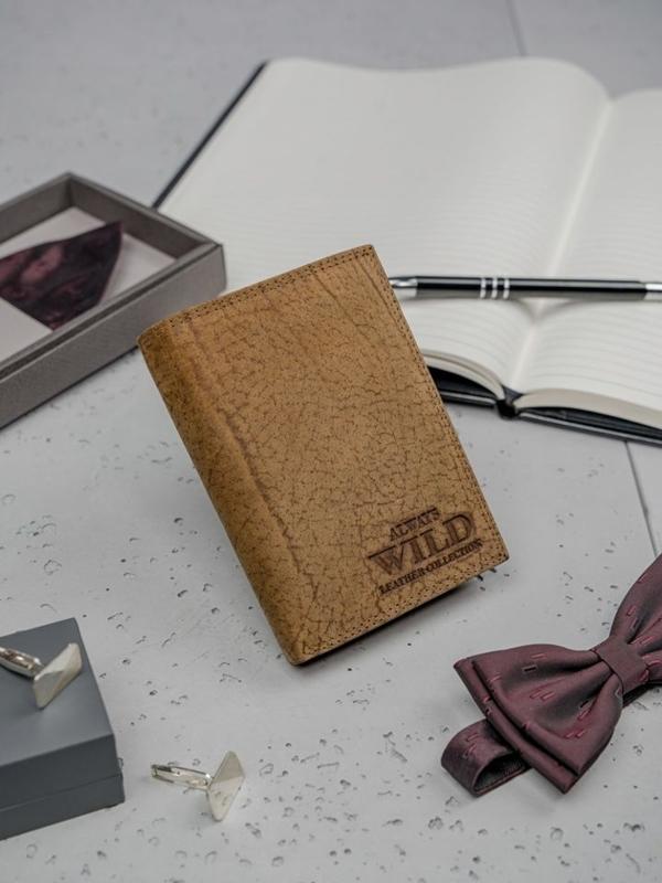 Hnedá pánska kožená peňaženka 3141