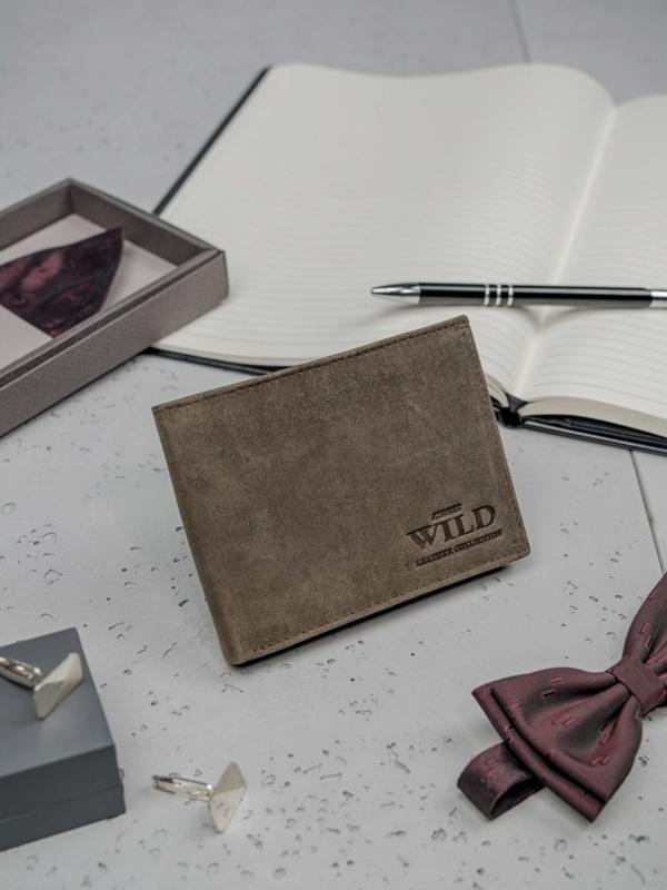 Hnedá pánska kožená peňaženka 3184