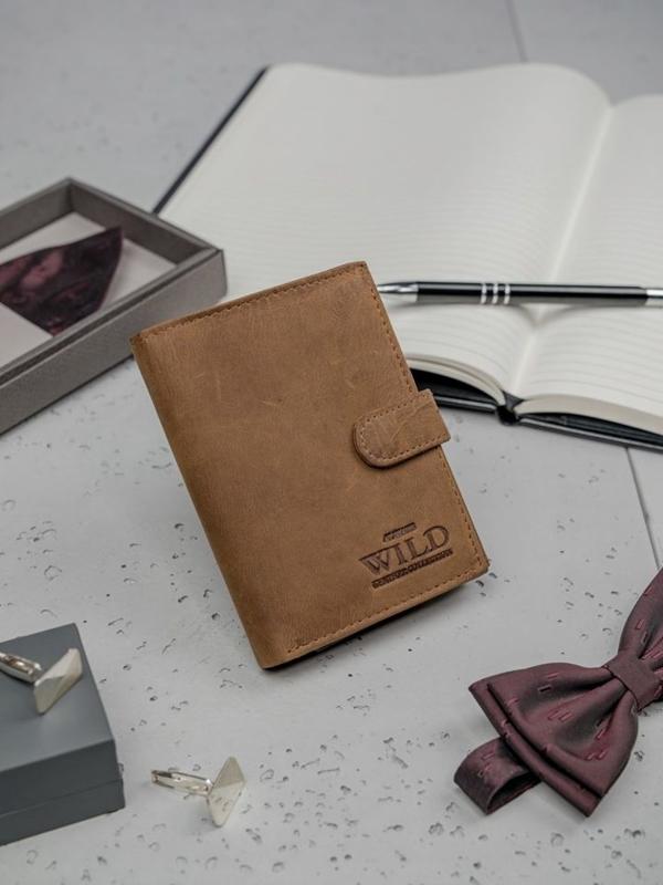 Hnedá pánska kožená peňaženka 3186