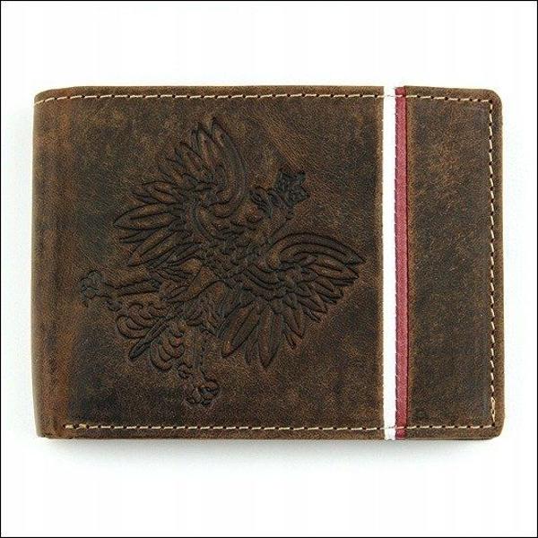 Hnedá pánska kožená peňaženka  675