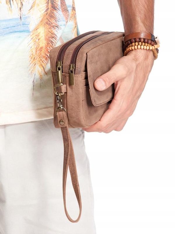 Hnedá pánska kožená taška 2442