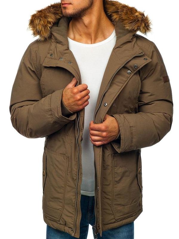 Khaki pánska zimná bunda parka BOLF 40131