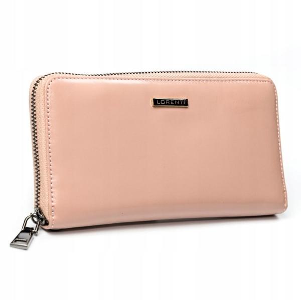 Lososová dámska kožená peňaženka 2856