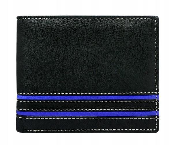 Modrá pánska kožená peňaženka 580