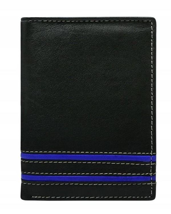 Modrá pánska kožená peňaženka 599