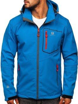 Modrá pánska softshellová bunda BOLF AB152