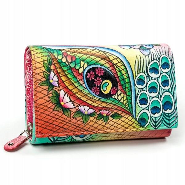 Ružová dámska kožená peňaženka 3042