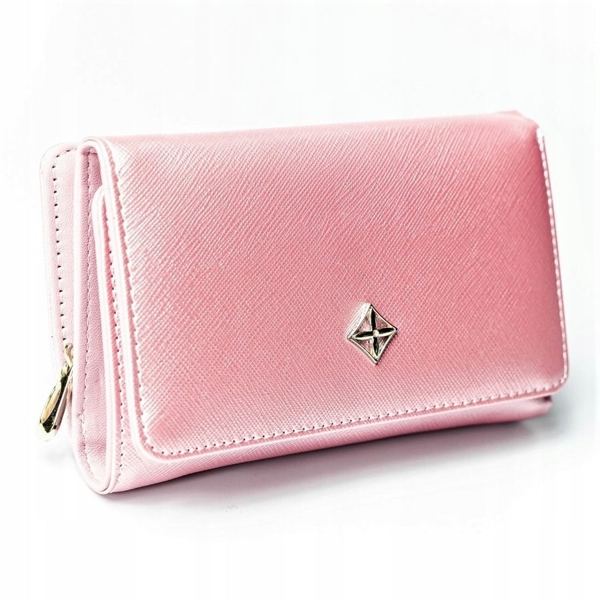 Ružová dámska koženková peňaženka 2310
