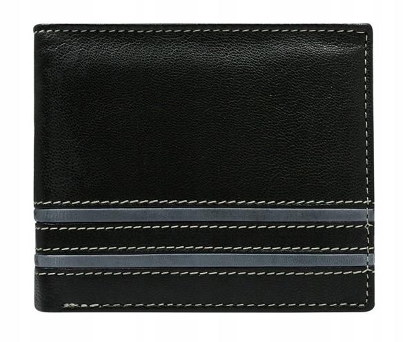 Šedá pánska kožená peňaženka 581