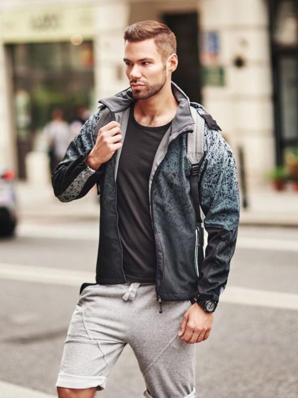 Stylizace č. 296 - hodinky, přechodná bunda, tričko, kraťasy