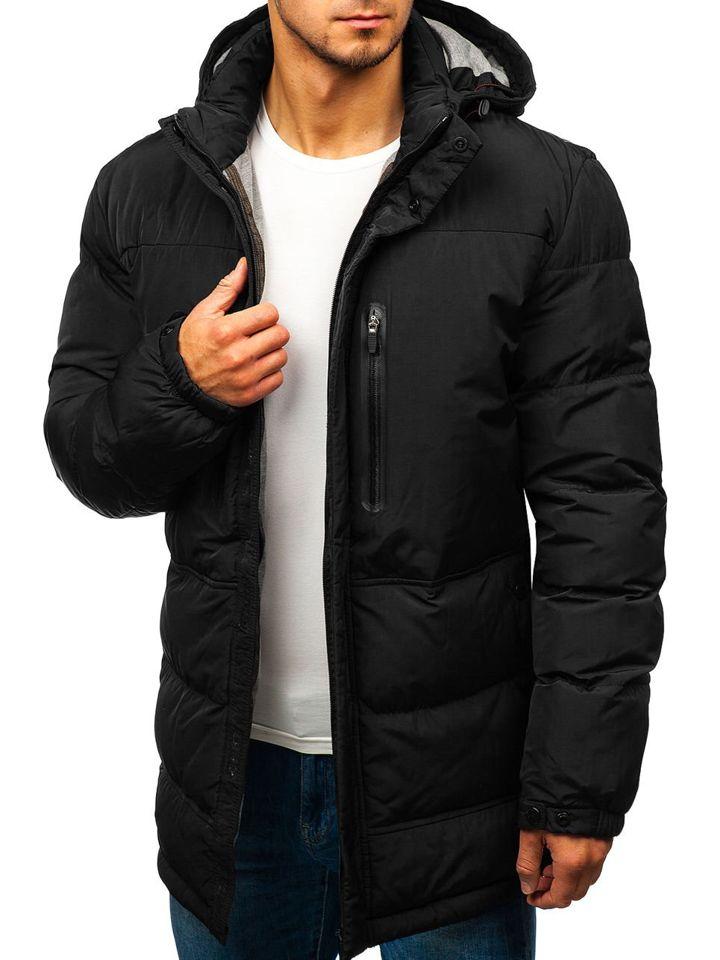 8f6d6327e36 Čierna pánska zimná bunda Bolf 1669