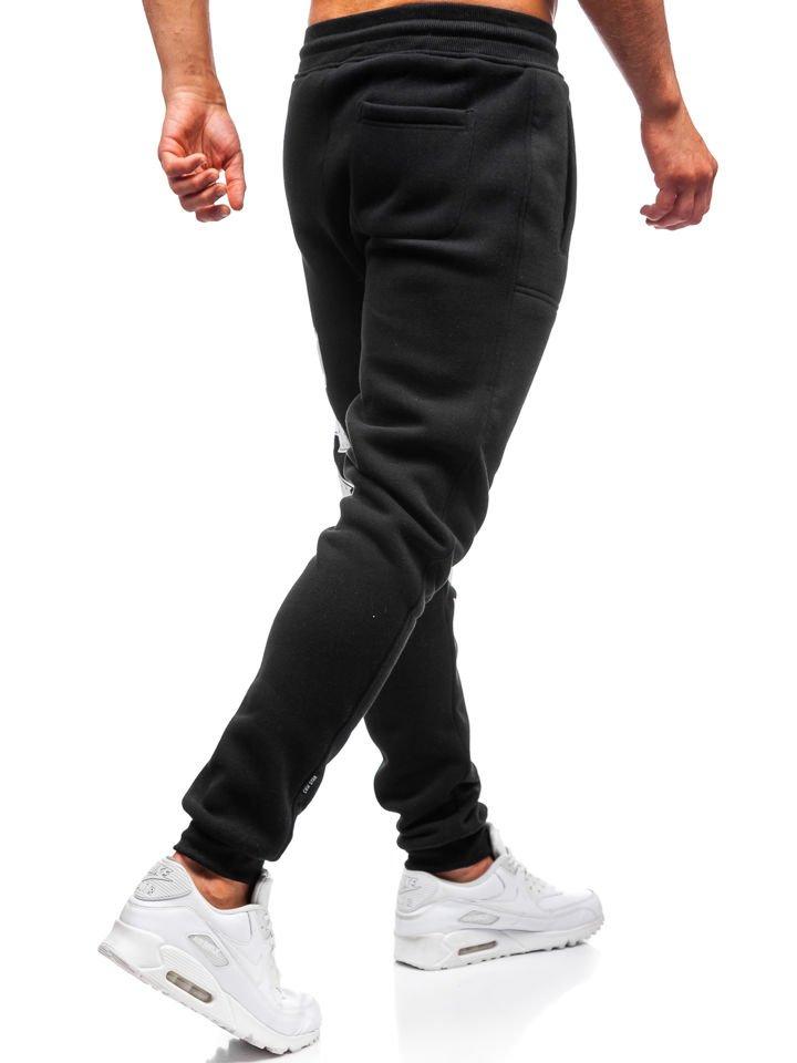 dae3aceefdcc1 Čierne pánske teplákové joggery BOLF Q3727