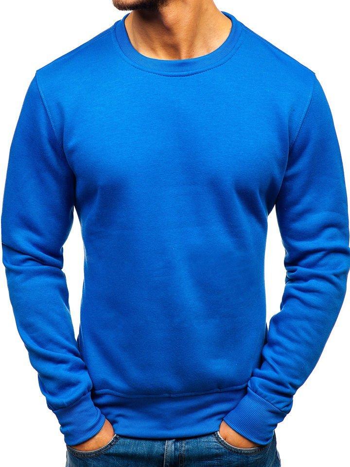 8ea2ea2daac Modrá pánska mikina bez kapucne BOLF BO-01