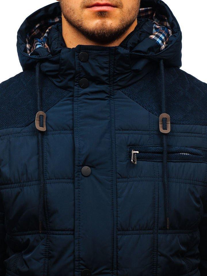Tmavomodrá pánska zimná bunda BOLF 1820 dd6e2be3dda