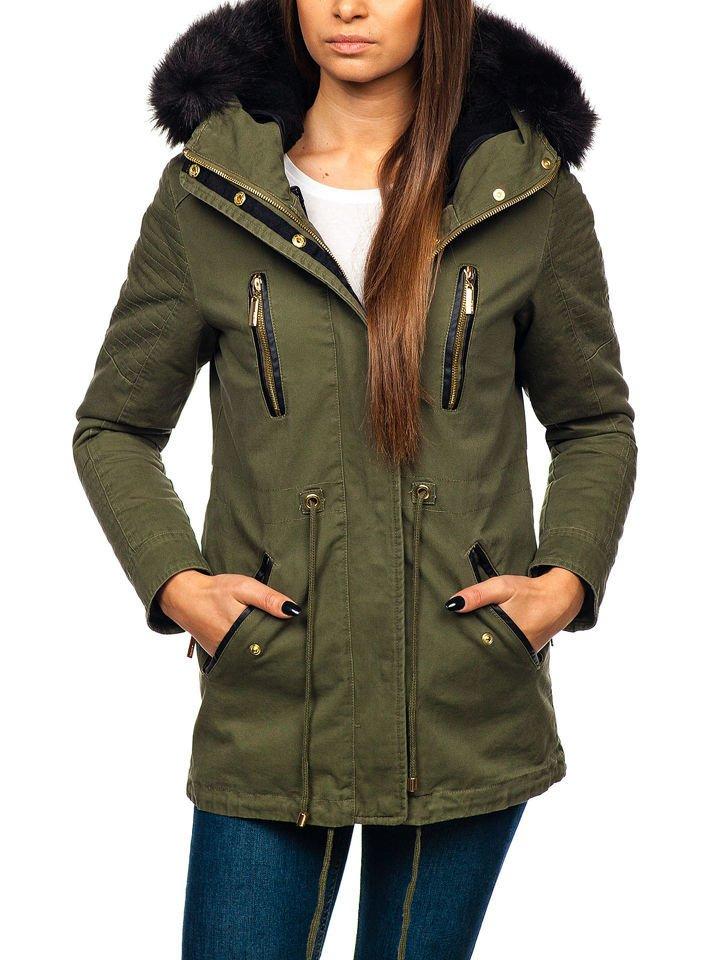 Zelená dámska zimná bunda BOLF M16 10033bc2ea3