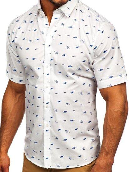 Farebná-2 pánska vzorovaná košeľa s krátkymi rukávmi Bolf TSK101