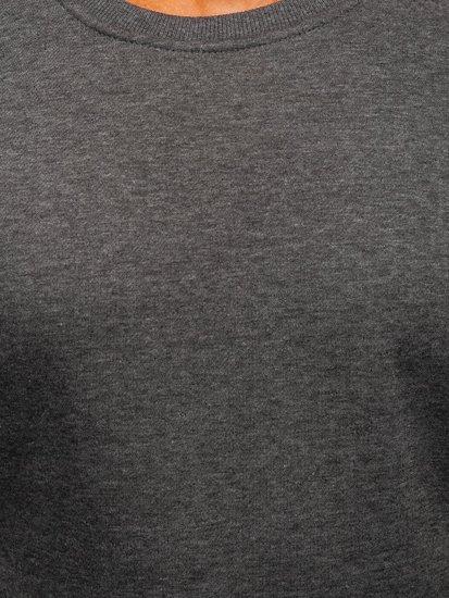 Antracitová pánska mikina bez kapucne BOLF 2001