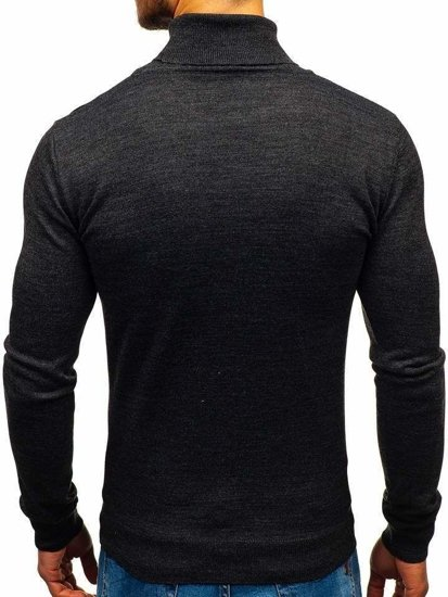 Antracitový pánsky sveter / rolák BOLF 2400