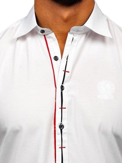 Biela pánska elegantná košeľa s dlhými rukávmi Bolf 1769-A