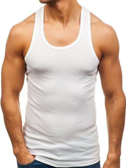 Biele pánske tričko bez potlače BOLF C10013-A