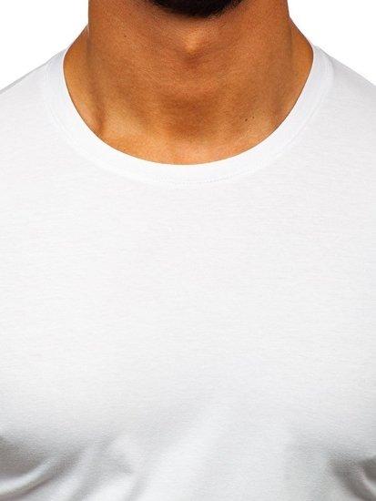Biele pánske tričko bez potlače Bolf 192132