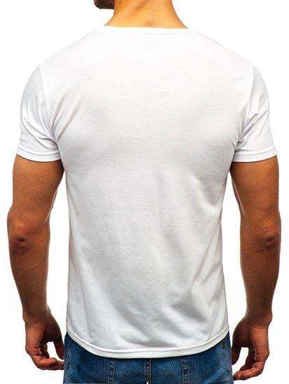 Biele pánske tričko s potlačou BOLF 10830