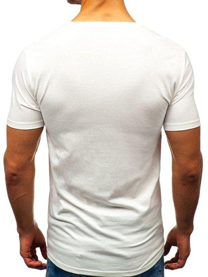 Biele pánske tričko s potlačou BOLF 7483