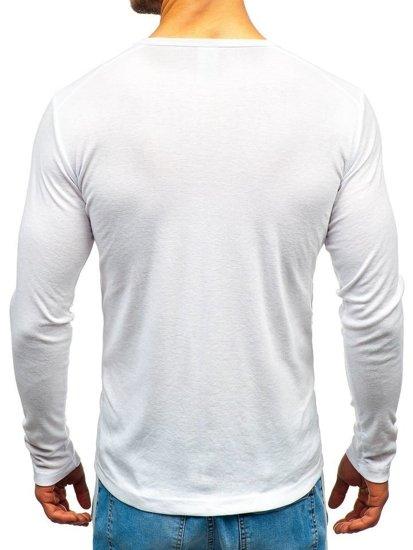 Biely pánsky nátelník bez potlače BOLF C10046-3P 3 KS